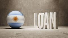 Argentina. Loan Concept. - stock illustration