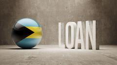 Stock Illustration of Bahamas. Loan Concept.