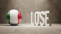 Lose Concept. - stock illustration