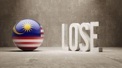 Malaysia. Lose Concept. - stock illustration
