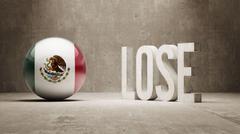 Mexico. Lose Concept. - stock illustration