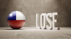 Chile. Lose Concept. - stock illustration