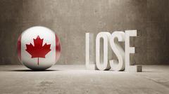 Canada. Lose Concept. - stock illustration