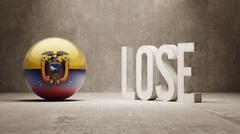 Ecuador. Lose Concept. - stock illustration