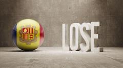 Andorra. Lose Concept. Stock Illustration