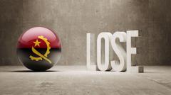 Stock Illustration of Angola. Lose Concept.