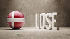 Denmark. Lose Concept. - stock illustration