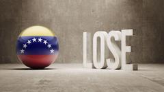 Venezuela. Lose Concept. - stock illustration