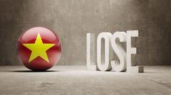 Vietnam. Lose Concept. - stock illustration