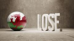 Wales. Lose Concept. - stock illustration