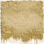 Grunge sepia dripping background - stock illustration