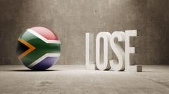 South Africa. Lose Concept. - stock illustration