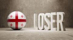 Georgia Loser Concept. Stock Illustration