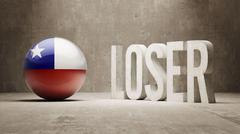 Chile. Loser Concept. Stock Illustration