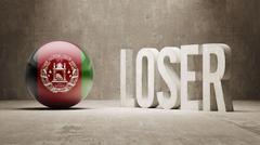 Afghanistan. Loser Concept. Stock Illustration