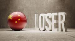 China. Loser Concept. Stock Illustration