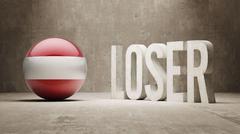 Austria. Loser Concept. Stock Illustration