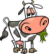 Cow farm animal cartoon illustration Stock Illustration