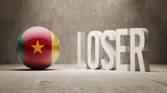 Cameroon. Loser Concept. Stock Illustration