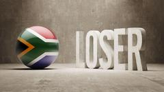 South Africa. Loser Concept. - stock illustration