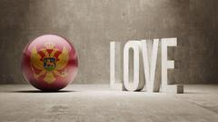 Montenegro. Love Concept. - stock illustration