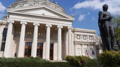 Bucharest Atheneum timelapse Stock Footage