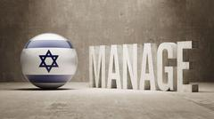 Israel Manage Concept Stock Illustration