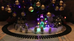 Christmas Tree Train - stock footage