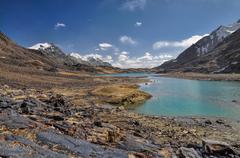 Lake in Tajikistan - stock photo
