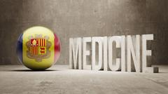 Andorra. Medicine Concept. Stock Illustration