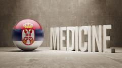 Serbia. Medicine Concept. Stock Illustration