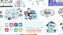 Social Media Internet Platform Networks Stock Footage