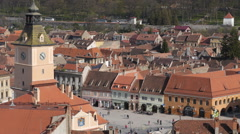 Brasov from the hill timelapse Stock Footage