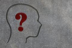 Human brain open with question mark Stock Photos