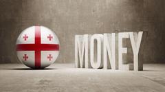 Georgia Money Concept. - stock illustration