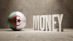 Stock Illustration of Algeria. Money Concept.