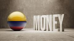 Colombia. Money Concept. - stock illustration