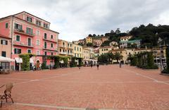 The street in Porto Azzurro on Elba Island, Italy Stock Photos