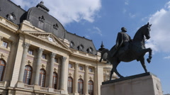 Bucharest statue timelapse Stock Footage
