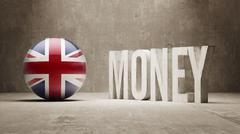 Stock Illustration of United Kingdom. Money Concept.