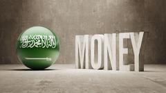 Saudi Arabia. Money Concept. - stock illustration