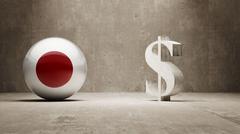 Stock Illustration of Japan. Money Sign Concept.