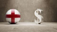 Stock Illustration of England. Money Sign Concept.