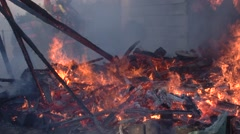 Fire tight shot of  embers Stock Footage