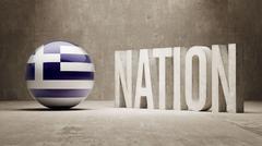 Greece. Nation Concept. - stock illustration