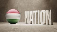 Hungary. Nation Concept. - stock illustration