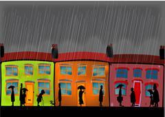 Heavy Rain - stock illustration