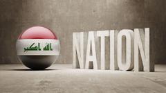 Iraq. Nation Concept. - stock illustration