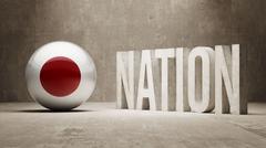 Japan. Nation Concept. - stock illustration