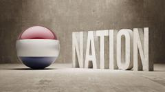 Netherlands. Nation Concept. Stock Illustration